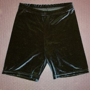American Apparel Blue Velvet Bike shorts